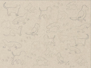 domesticated animals background