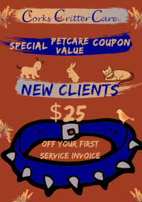 client pst sitting special coupon 25 dollars off pet care services