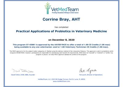 Probiotics in Vet Medicine